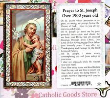 Prayer to St. Joseph Over 1900 years old - gold trim - Paperstock Holy Card