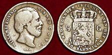 NETHERLANDS Nederland Pays-Bas 1/2 gulden 1866 silver William  III