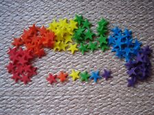 90 edible rainbow stars for cupcake / cake decorations
