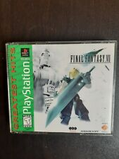 FINAL FANTASY VII 7 PLAYSTATION PS1 GREATEST HITS FF7 VGC 3 DISCS W/CASE 🤯