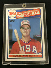 MARK MCGWIRE ROOKIE TOPPS 1985 OLYMPIC TEAM ICONIC OAKLAND A'S RC BASEBALL CARD