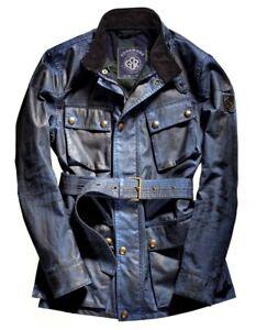 Belstaff Limited Edition Goodwood Festival Faded Navy Wax Jacket Size 48 BNWT