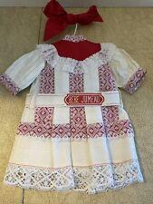 "Bebe Jumeau Doll Dress 18""-20"" size ? Tagged Belt"