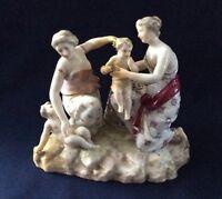Antique Continental Porcelain Choisy Le Roi French Figure Group Putto Cherub