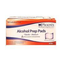 Phoenix Alcohol Prep Pads - Medium Sized, 100 Count