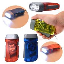 Viento Una Mano Prensado Biela Emergencia Acampada linterna flash LED