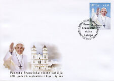 Latvia 2018 FDC Pope Francis Visits 1v Set Cover Popes Churches Religion Stamps