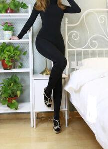 Unisex 500D Seamless Velvet Full Bodyhose Bodystocking Clubwear Bodysuit Catsuit