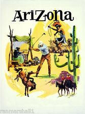 Arizona Phoenix Tucson United States Vintage Travel Advertisement Art Poster