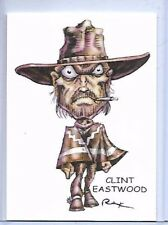 CLINT EASTWOOD ** GOOD BAD & UGLY ** TRADING CARD ART SIGNED by RAK ** NEAR MINT