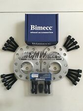 4 x 20mm Silver Alloy Wheel Spacers Black Bolts Locks - BMW E46 M3, Z4M, E60 M5