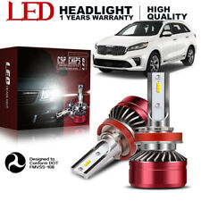6000K LED Headlight Hi Low Beam Bulbs H11 Lamps for Buick LaCrosse 2005-2013 YDW
