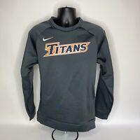 Nike Dri-Fit NFL Tennessee TITANS Grey Lined Long Sleeve Shirt Mens Size Medium