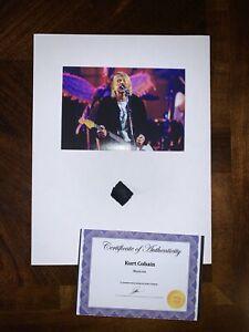 Kurt Cobain Nirvana Worn Clothing Piece relic Nevermind Grunge not signed