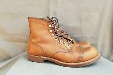 Men's RED WING Iron Ranger 8111 Brown Leather Boots Sz-8.5D Made in USA