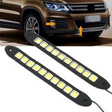 2X LED Strip Light DRL Daytime Running Light COB Lights Flexible LED Car Driving