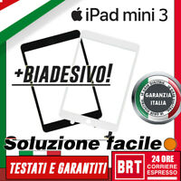 TOUCH SCREEN+VETRO+BIADESIVO APPLE IPAD MINI 3 A1599 A1600 WIFI 3G VETRO SCHERMO