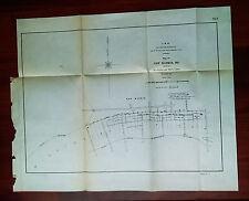 1904 Map of New Madrid Missouri MO Revetment and Shoreline