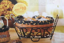 Longaberger 2010 Halloween Treats Basket With Wrought Iron Stand W/ Lid