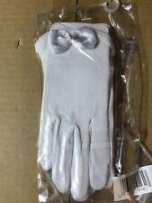 GIRL'S WHITE FORMAL DRESS GLOVES Satin Bow Ages 2-3-4 Years  Toddler Nolan Glove