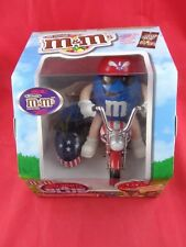 Patriotic M&M's Candy Dispenser Red, White and Blue Motorcycle Side car NIB