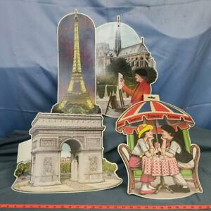 Vintage Lot of French Paper Party Wall Hangings Classroom Calendar Months dq