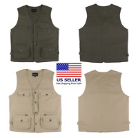 US Mororock 8 Pockets Photographer Cargo Hunting Fishing Safari Hiking Vest