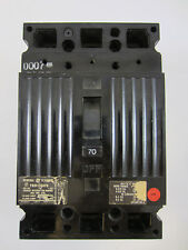 G.E. GENERAL ELECTRIC TED134070  70AMP  480VAC  3 POLE CIRCUIT BREAKER