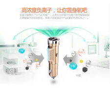 Auto 12V Fresh Air Purifier Ionizer Ionic Pure-O Cleaner Ozone Oxygen USB Charge
