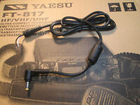 YAESU DC CABLE FT-817 530 VX5R FT60R FT277R EDC-6 with ferrite choke. ~3 ft