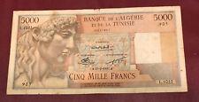 New ListingAlgeria Algerie Tunisia 5000 Francs Appolo Pick 109 French Colony 1952 Rare