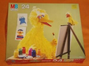 Vintage Sesame Street Muppets Big Bird 24 Jigsaw Complete Puzzle Children's Kids