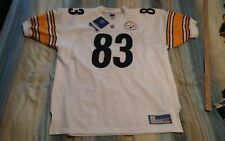 HEATH MILLER #83 PITTSBURGH STEELERS AUTHENTIC AWAY FOOTBALL JERSEY size 52 NWT