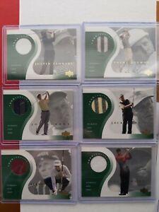 2001 Upper Deck Golf Tour Threads COMPLETE SET!! Tiger, Leonard, Durant, Langer!
