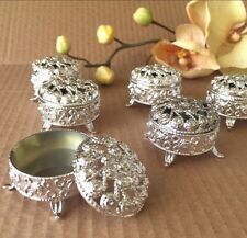 144 Silver Round Trinket Boxes Party Wedding Favor Bridal Decoration Baby Shower