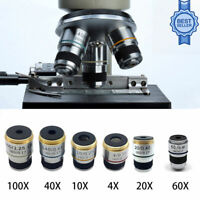 185 Achromatisches Mikroskop Objektiv Lens 4X 10X 20X 40X 60X 100X