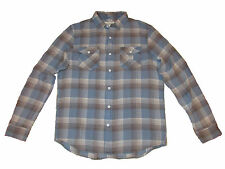 Ralph Lauren Denim and Supply Light Blue Check Plaid Flannel Polo Shirt XXL
