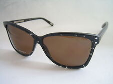 MARC JACOBS SUNGLASSES WOMEN'S MJ 345 IMV 8U BLACK CRYSTAL GLITTER BNWT GENUINE