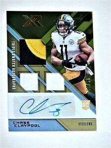 Chase Claypool 2020 Panini XR/ Rookie Gold Triple Patch Auto #'d 10/10