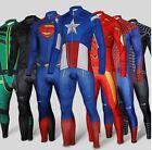 Superhero Spiderman Captain Superman long Sleeve Bike Cycling Jersey+Pants Short