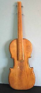 "Wood Guitar MUSICAL Instrument 18"" Wall Hanging PLAQUE Music Primitive FREE SH"