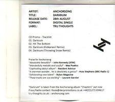 (DT850) Anchorsong, Darkrum - 2012 DJ CD