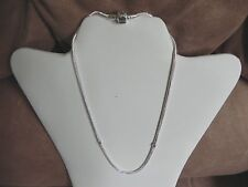 Serjaden Necklace European Style Silver Plated 3mm Thick 17 1/2 inch