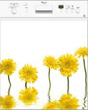Adesivo lavastoviglie decocrazione cucina Fiore giallo 60x60cm ref 057