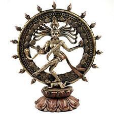 "DANCING SHIVA STATUE 9"" Nataraja Hindu God GOOD QUALITY Bronze Resin Deity India"