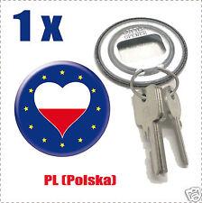 Décapsuleur porte clef Drapeau Europa  Flag PL-(Polska)