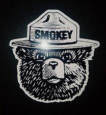 3 Smokey Bear sticker toolbox vinyl Decal Truck bumper window laptop