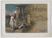 1890ca SERENADE EGYPTIENNE Egypt piano score Giulio Ricordi Edel Solanges مصر