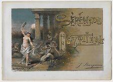 1890ca EGYPTIENNE DE SERENATA Lower Egypt piso score Giulio Recuerdos Edel