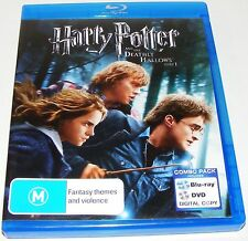 HARRY POTTER AND THE DEATHLY HALLOWS Part 1--(Blu-ray, 2011, 4-Disc Set)
